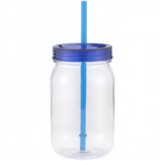 Clear with Blue Lid Classic Mason | 24 oz