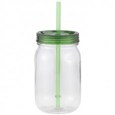 Green Classic Mason | 24 oz - Clear with Green Lid