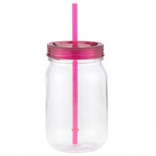 Pink Classic Mason | 24 oz - Clear with Hot Pink Lid