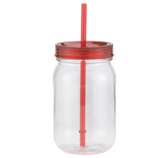 Red Classic Mason | 24 oz - Clear with Red Lid