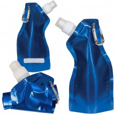 Metallic Blue Curvy Flexi Water Pouch