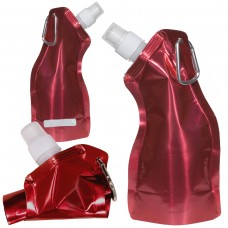 Red Curvy Flexi Water Pouch - Metallic