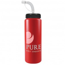 Red The Sports Quart - 32 oz Bottles Colors (Straw Lid)