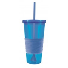 Blue Revolution Tumblers | 24 oz with Blue Rubber Grip