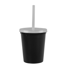 Black Cups-On-The-Go -16 oz. Recycled Stadium Cup
