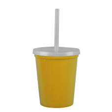 Yellow Cups-On-The-Go -16 oz. Stadium Cup