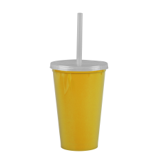 Yellow Cups-On-The-Go -20 oz. Stadium Cup