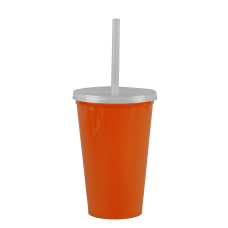 Orange Cups-On-The-Go -20 oz. Stadium Cup