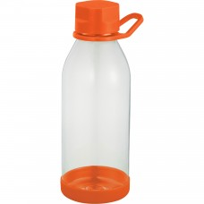 Orange Piper Tritan Sports Bottles | 24 oz - Clear with Orange Lid