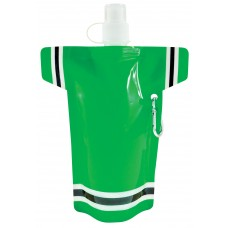 Green Super Fan Flat Bottles | 16 oz