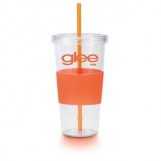 Orange Burpy | 24 oz - Clear with Orange Grip