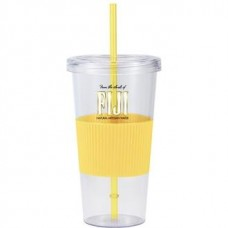 Yellow Burpy | 24 oz - Clear with Yellow Grip