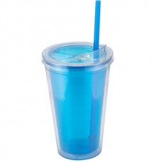 Blue Sip'n Straw | 16 oz