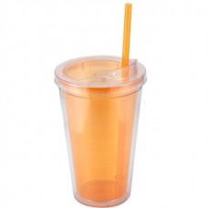 Orange Sip'n Straw | 16 oz