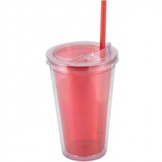 Red Sip'n Straw | 16 oz