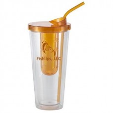 Orange Flavorade Venti | 20 oz - Clear with Orange Infuser and Lid