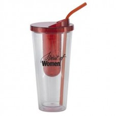 Red Flavorade Venti | 20 oz - Clear with Red Infuser and Lid