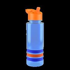 Cyan Blue Sergeant -24 oz. Tritan Stripe -Flip Straw Lid