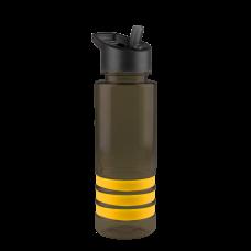 Black Sergeant -24 oz. Tritan Stripe -Flip Straw Lid