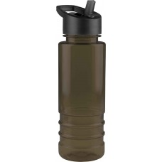 Black Salute - 24 oz. Tritan Bottles -Flip Straw Lid-Smoke