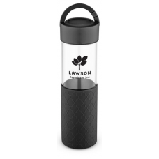 Black 20 oz Mia Serenity Glass Water Bottles
