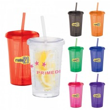 Tutti Frutti Tumbler With Straw | 20 oz
