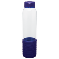 Blue 20 oz H2Go Oasis Glass Water Bottles