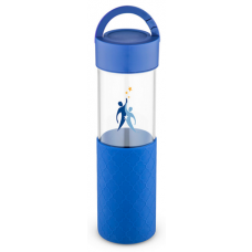 Blue 24 oz Mia Serenity Glass Water Bottles