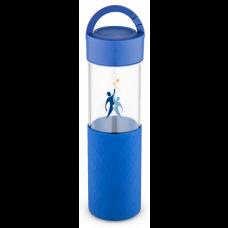 Blue 24 oz Mia Serenity Glass Water Bottles