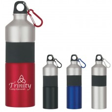 Two-Tone Aluminum Bottles With Rubber Grip | 25 oz