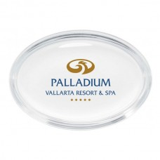 Glass Oval Paperweight