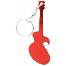 Red Guitar Bottle Opener Keychain
