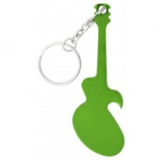 Green Guitar Bottle Opener Keychain