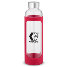 Red 20 oz Tioga Glass Water Bottles