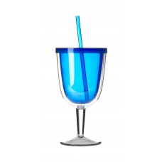 Blue Delray Wine Cup | 12 oz