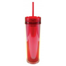 Red Slender Sip Tumblers | 16 oz