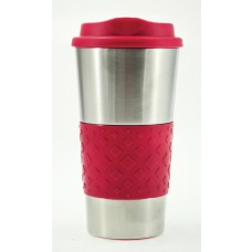 Red Grip N Go Stainless Tumblers | 16 oz