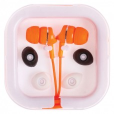 Orange Printed Extended Ear Phones