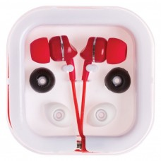 Red Printed Extended Ear Phones