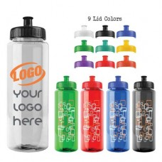 32 oz Guzzler Transparent Water Bottle