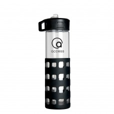 Black Sip-N-Go Glass Water Bottles | 20 oz