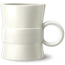 White 14 oz Loop BPA Free Plastic Mugs