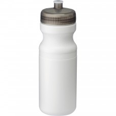 Black Easy Squeezy Sports Bottles | 24 oz - White with Translucent Black Lid