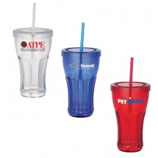 Fountain Soda Tumbler With Straw | 16 oz