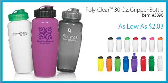 Poly-Clear 30 oz Gripper Bottle